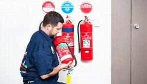 بررسی و شارژ کپسول آتش نشانی